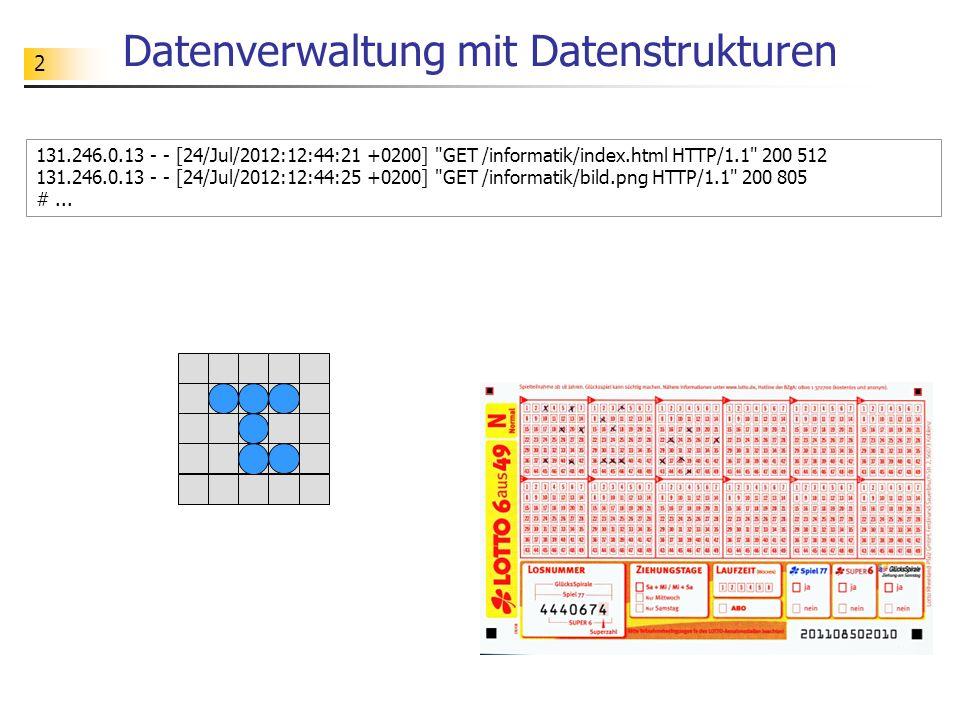 Datenverwaltung mit Datenstrukturen