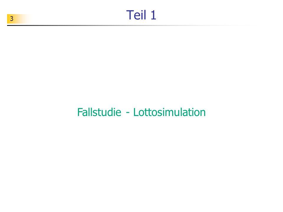 Fallstudie - Lottosimulation