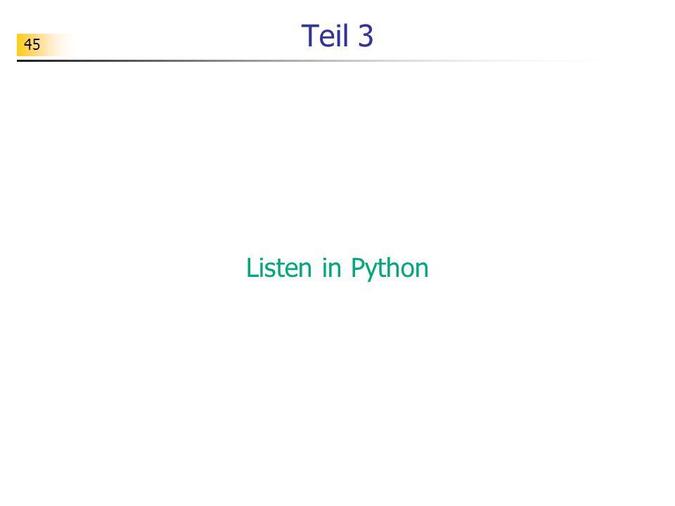 Teil 3 Listen in Python