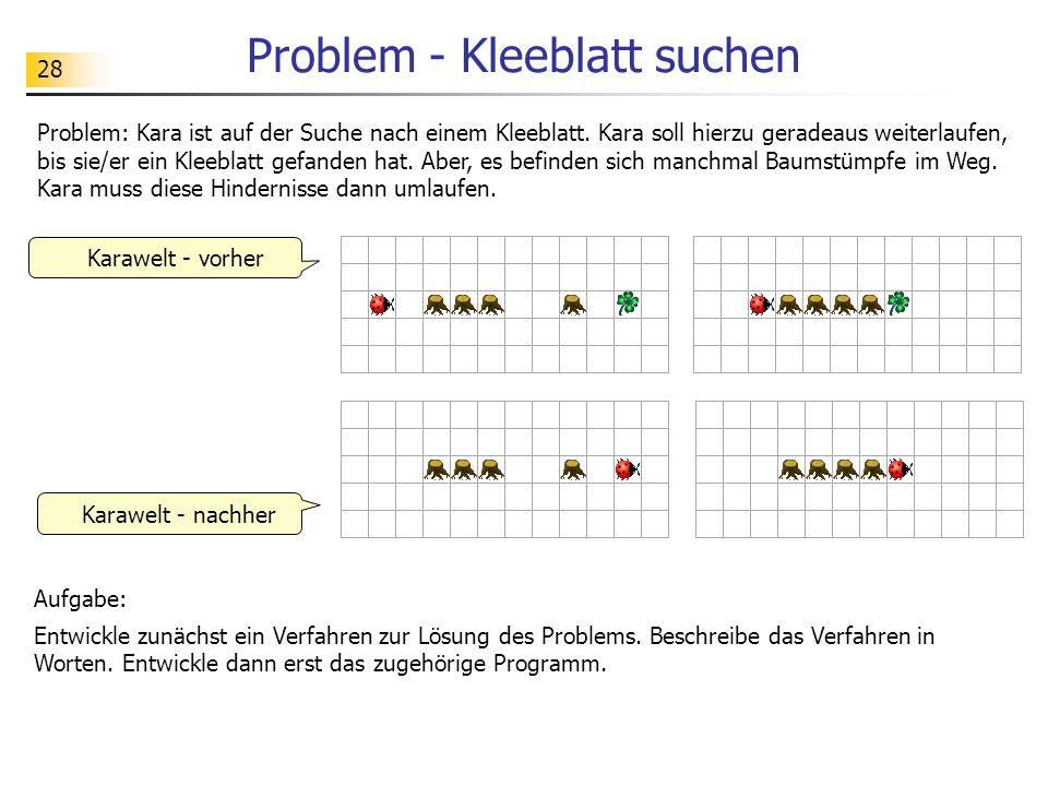 Problem - Kleeblatt suchen