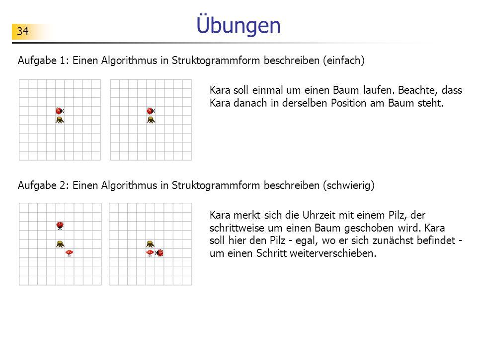 Übungen Aufgabe 1: Einen Algorithmus in Struktogrammform beschreiben (einfach)