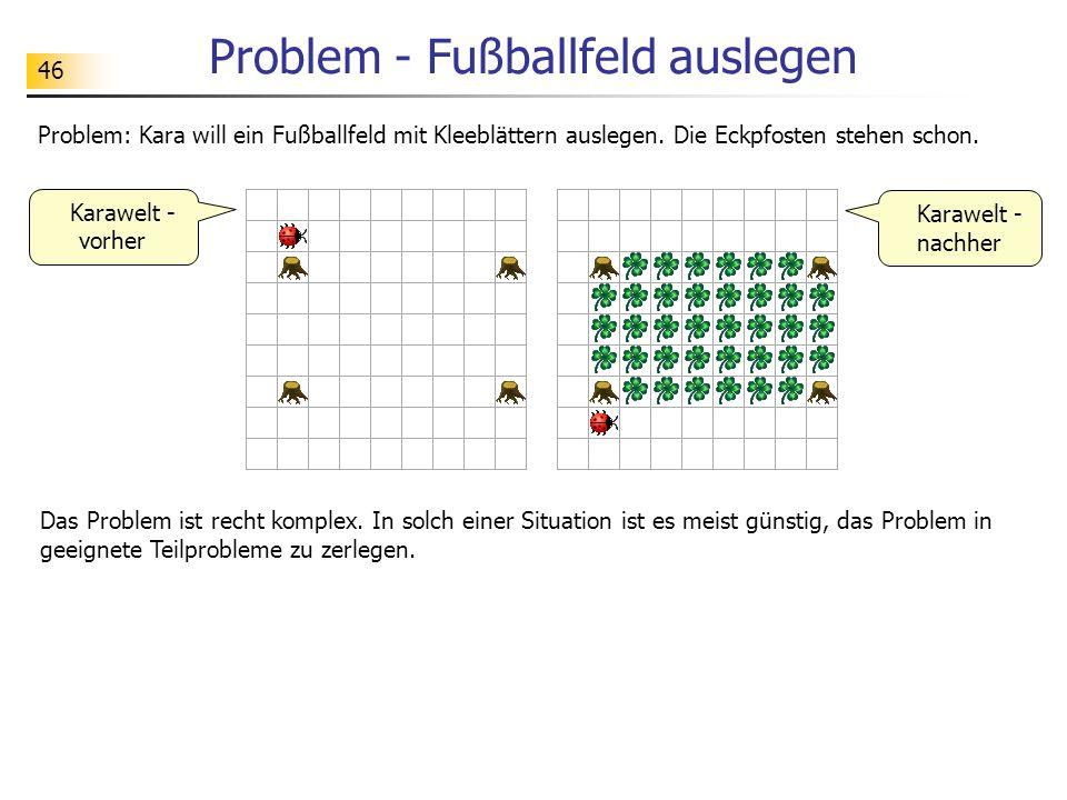 Problem - Fußballfeld auslegen