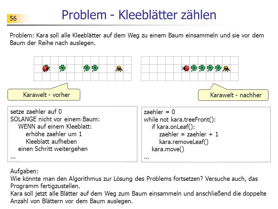 Problem - Kleeblätter zählen