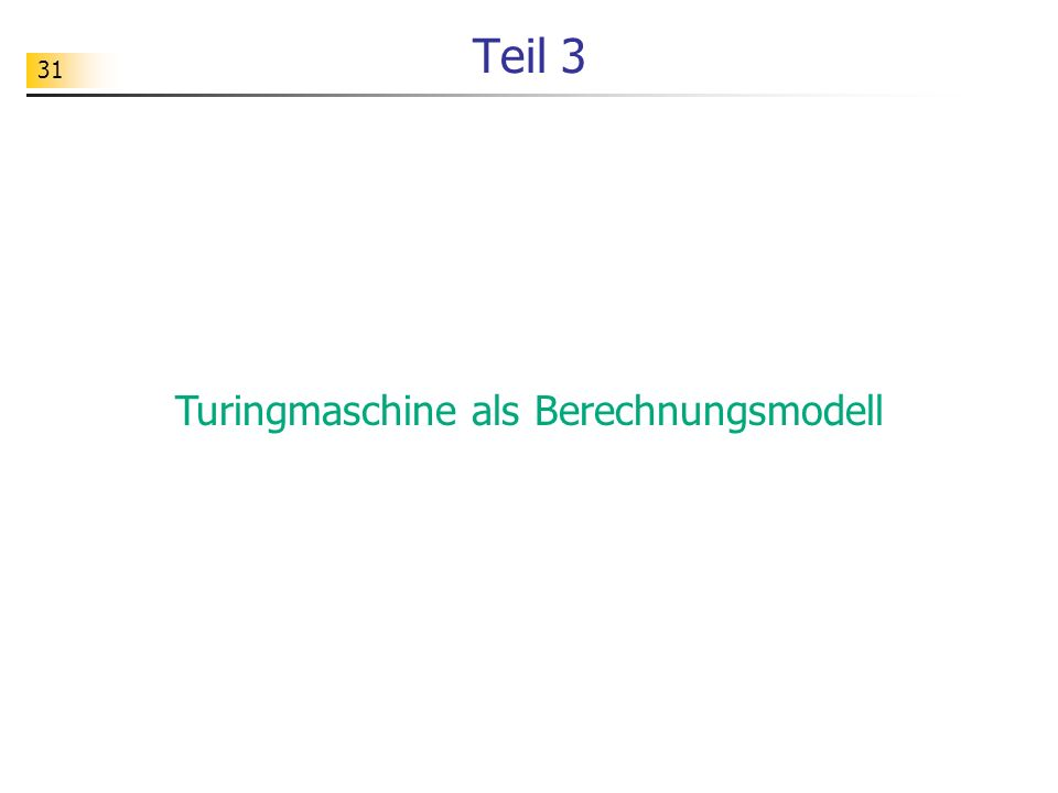 Turingmaschine als Berechnungsmodell