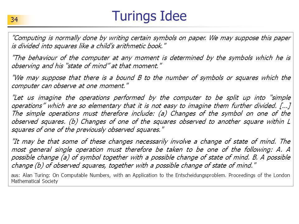 Turings Idee