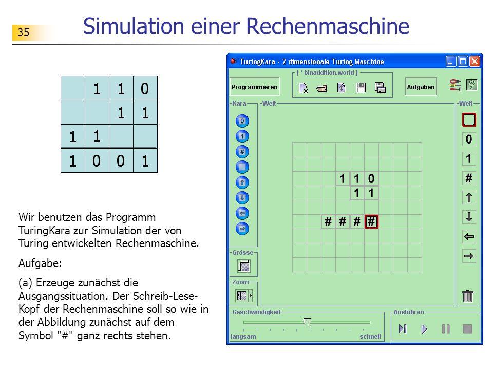 Simulation einer Rechenmaschine