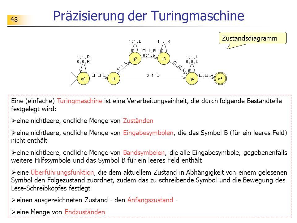 Präzisierung der Turingmaschine