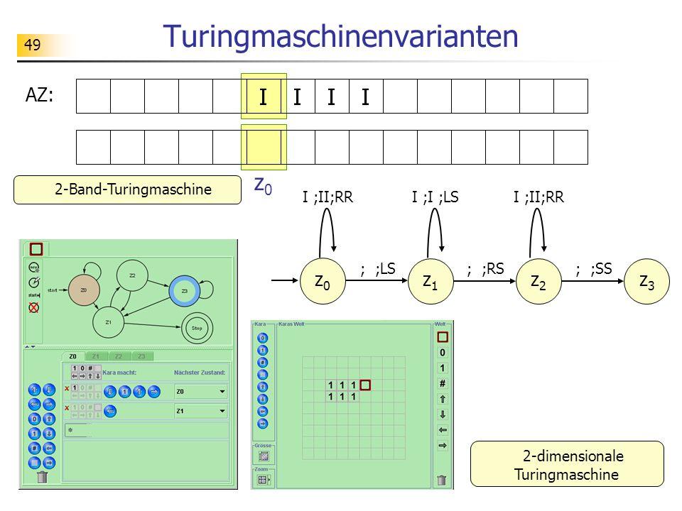 Turingmaschinenvarianten