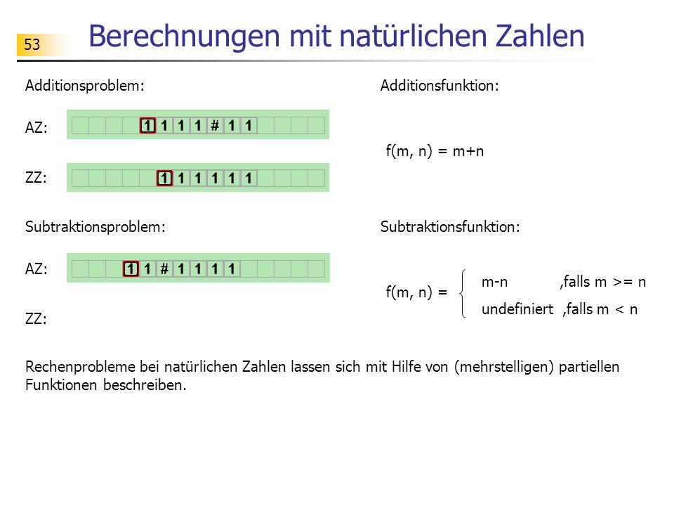 Berechnungen mit natürlichen Zahlen