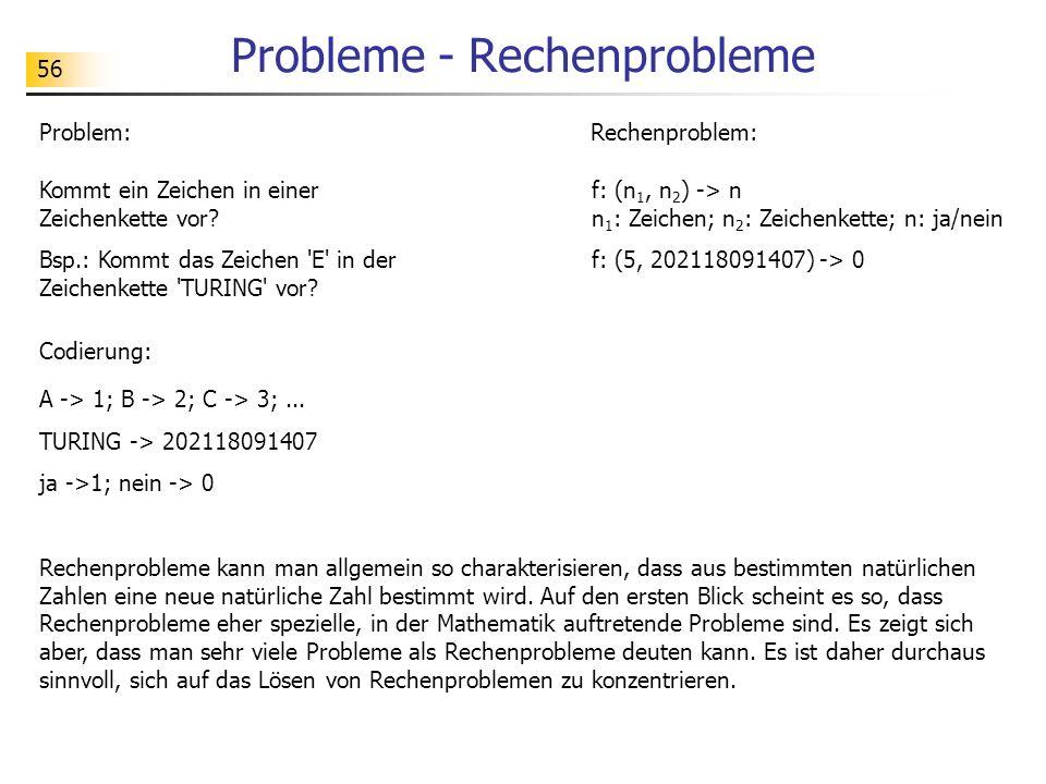 Probleme - Rechenprobleme