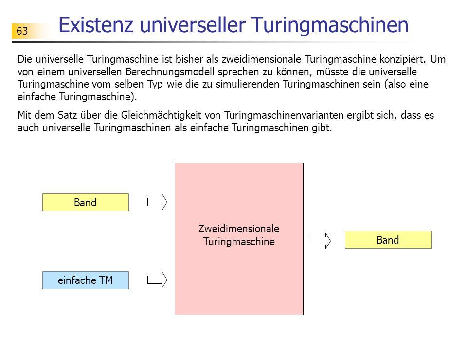 Existenz universeller Turingmaschinen