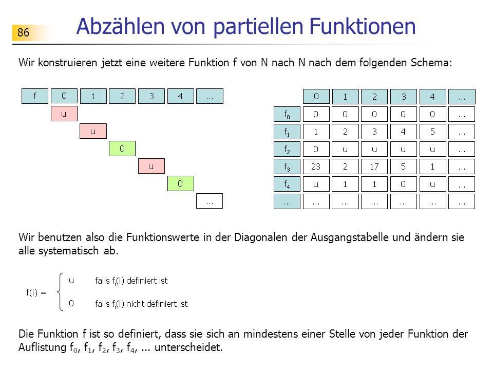 Abzählen von partiellen Funktionen