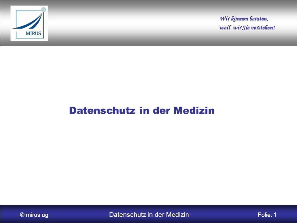 Datenschutz in der Medizin