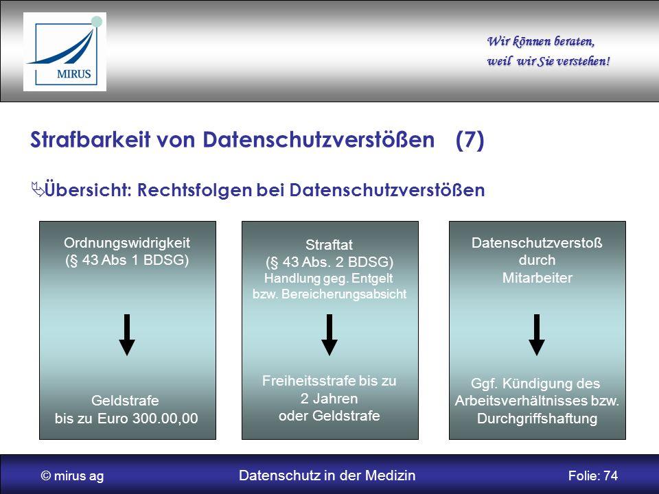 Strafbarkeit von Datenschutzverstößen (7)