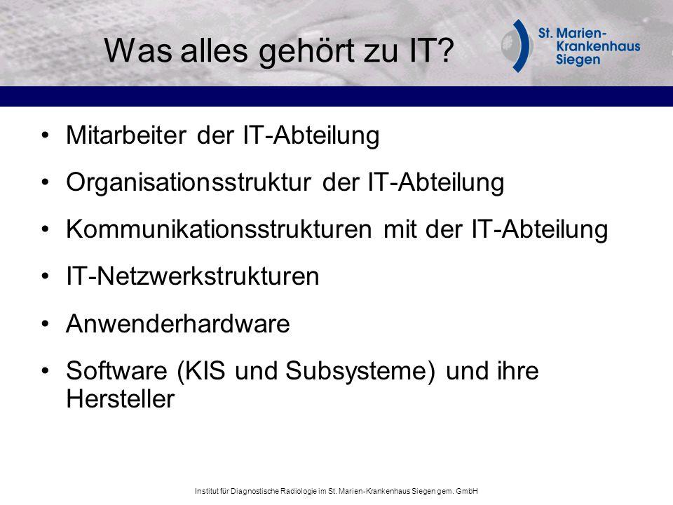Was alles gehört zu IT Mitarbeiter der IT-Abteilung