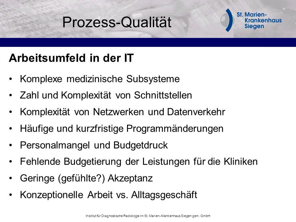 Prozess-Qualität Arbeitsumfeld in der IT