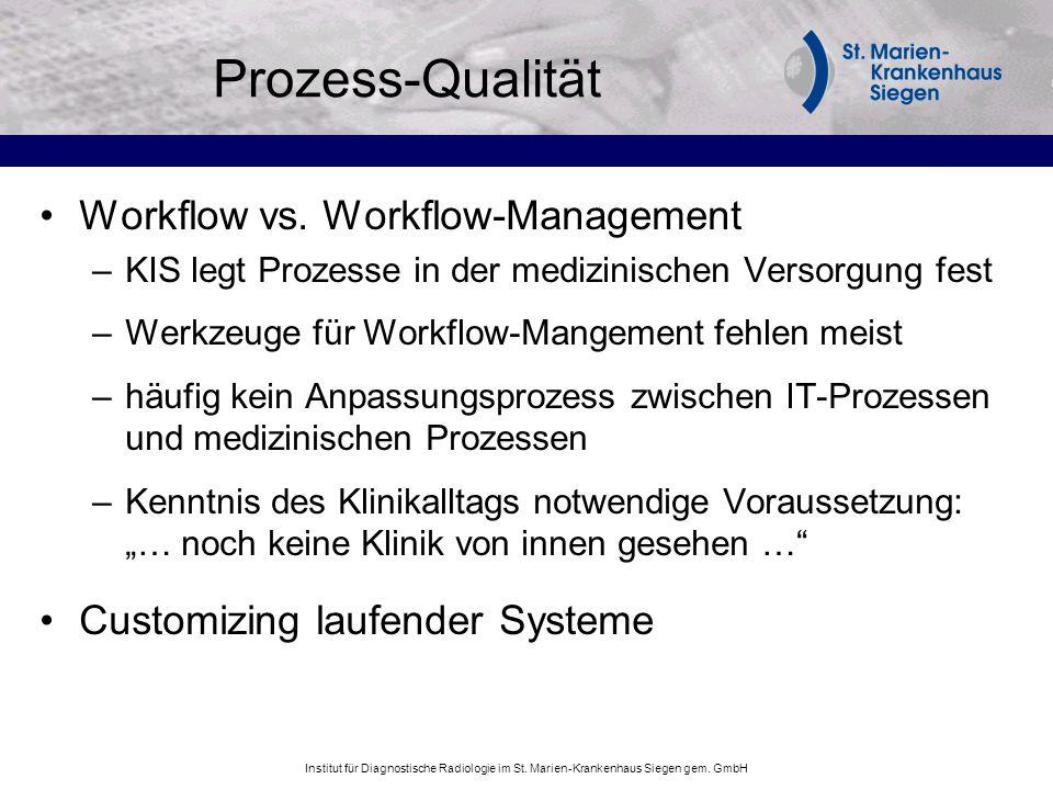 Prozess-Qualität Workflow vs. Workflow-Management