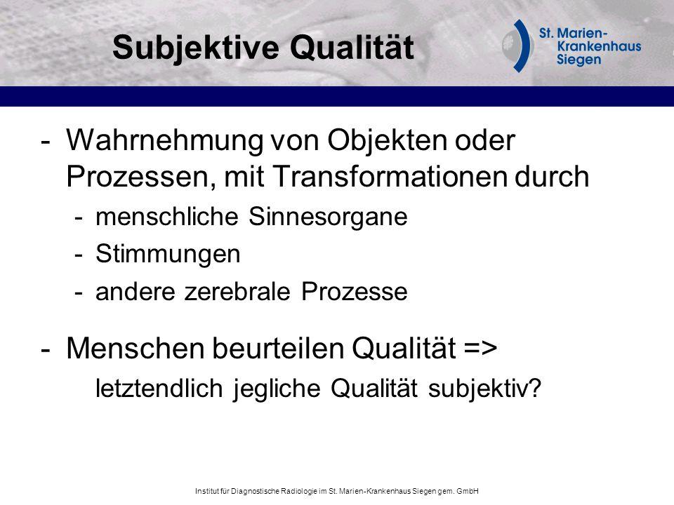 Subjektive Qualität Wahrnehmung von Objekten oder Prozessen, mit Transformationen durch. menschliche Sinnesorgane.