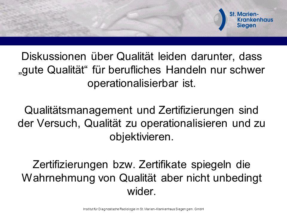 """Diskussionen über Qualität leiden darunter, dass """"gute Qualität für berufliches Handeln nur schwer operationalisierbar ist."""