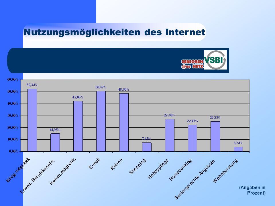 Nutzungsmöglichkeiten des Internet