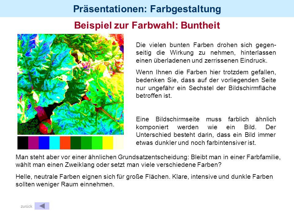 Beispiel zur Farbwahl: Buntheit