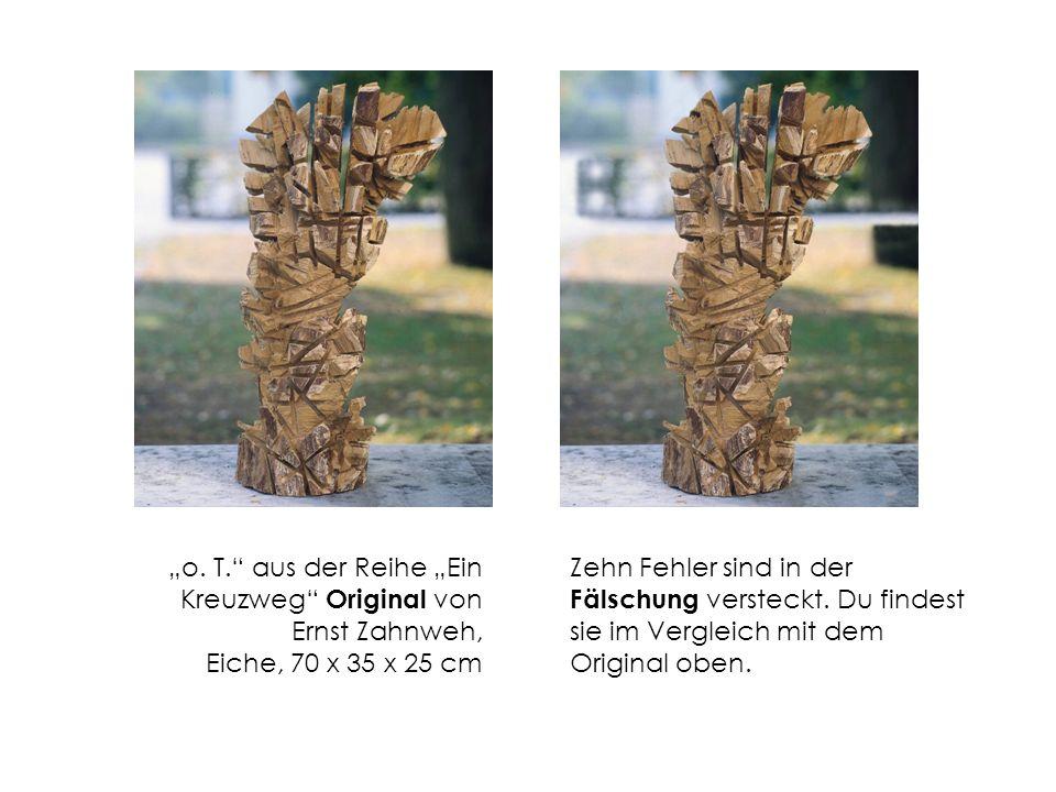 """""""o. T. aus der Reihe """"Ein Kreuzweg Original von Ernst Zahnweh, Eiche, 70 x 35 x 25 cm"""