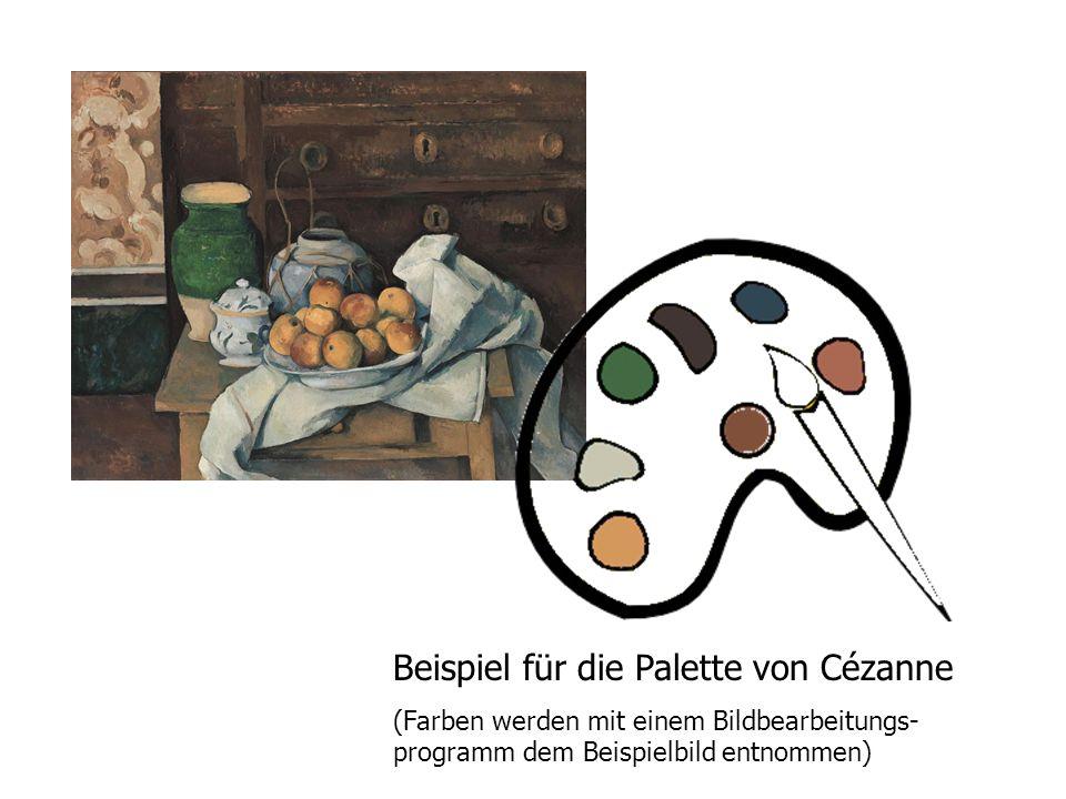 Beispiel für die Palette von Cézanne