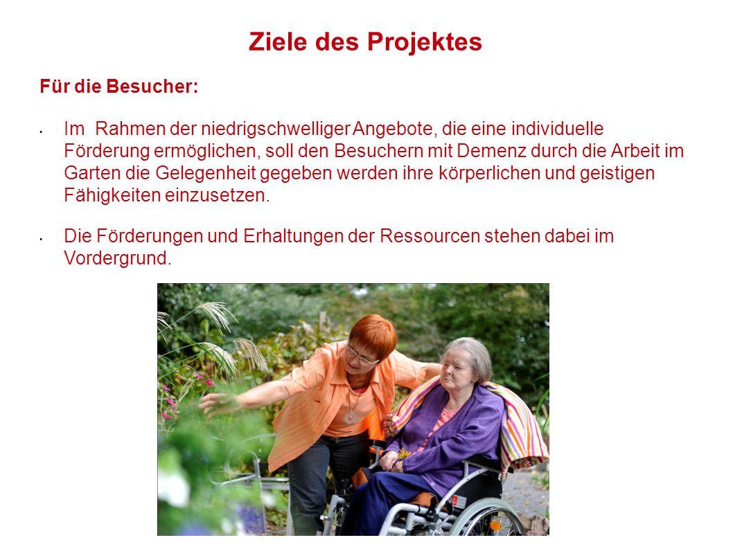 Ziele des Projektes Für die Besucher: