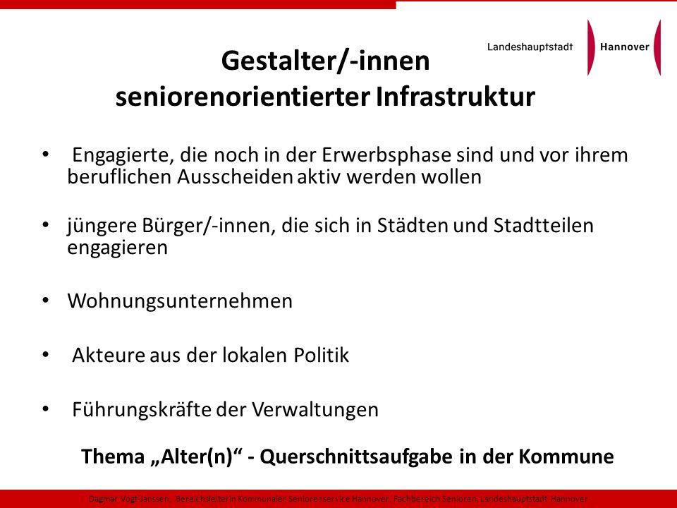 Gestalter/-innen seniorenorientierter Infrastruktur