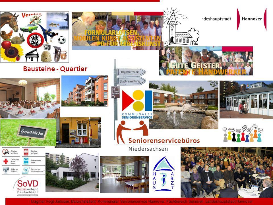 Bausteine - Quartier Dagmar Vogt-Janssen, Bereichsleiterin Kommunaler Seniorenservice Hannover, Fachbereich Senioren, Landeshauptstadt Hannover.