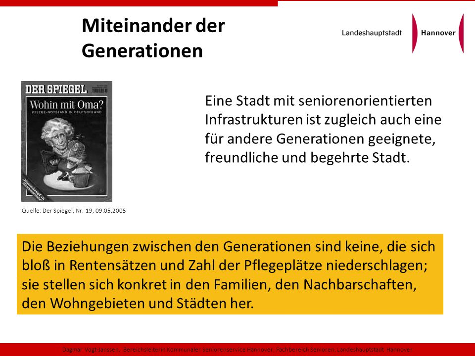Miteinander der Generationen