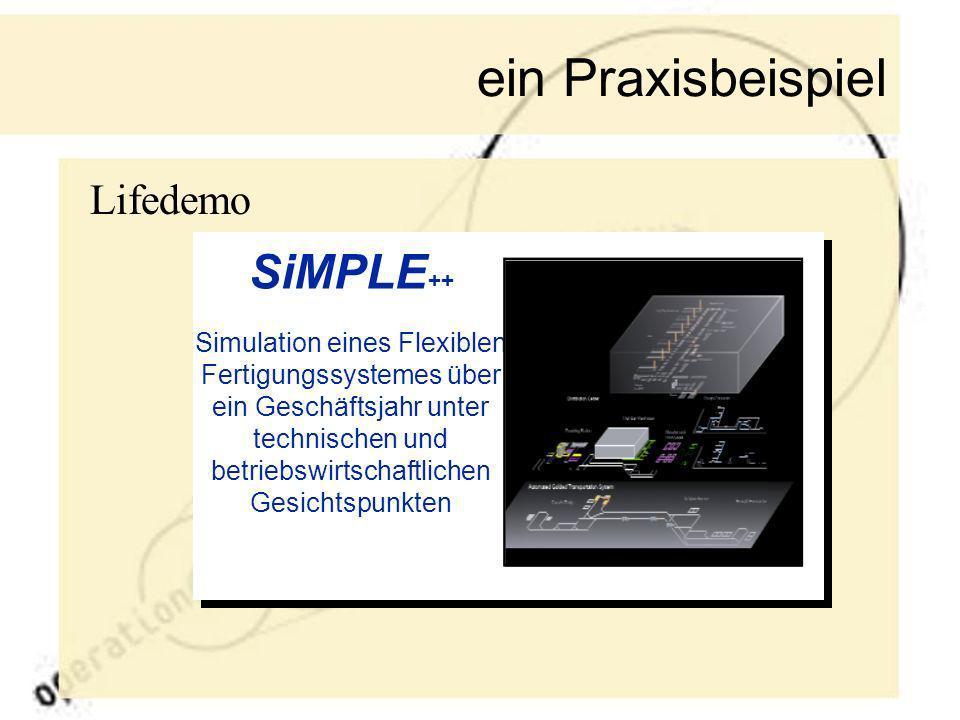 ein Praxisbeispiel SiMPLE++ Lifedemo