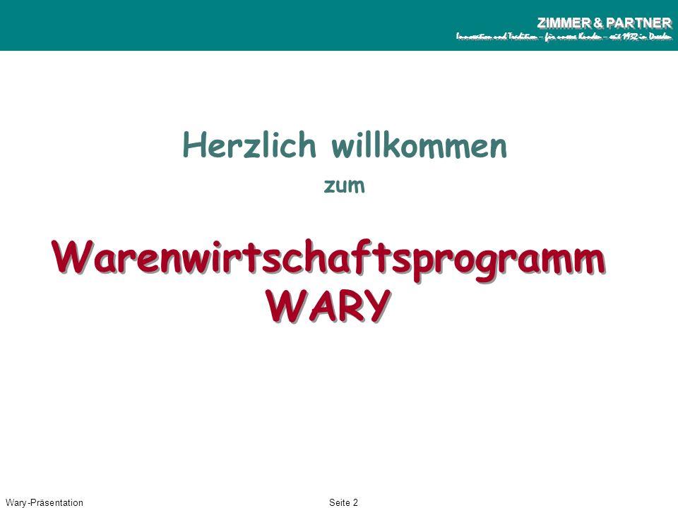 Warenwirtschaftsprogramm WARY