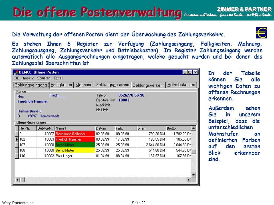 Die offene Postenverwaltung