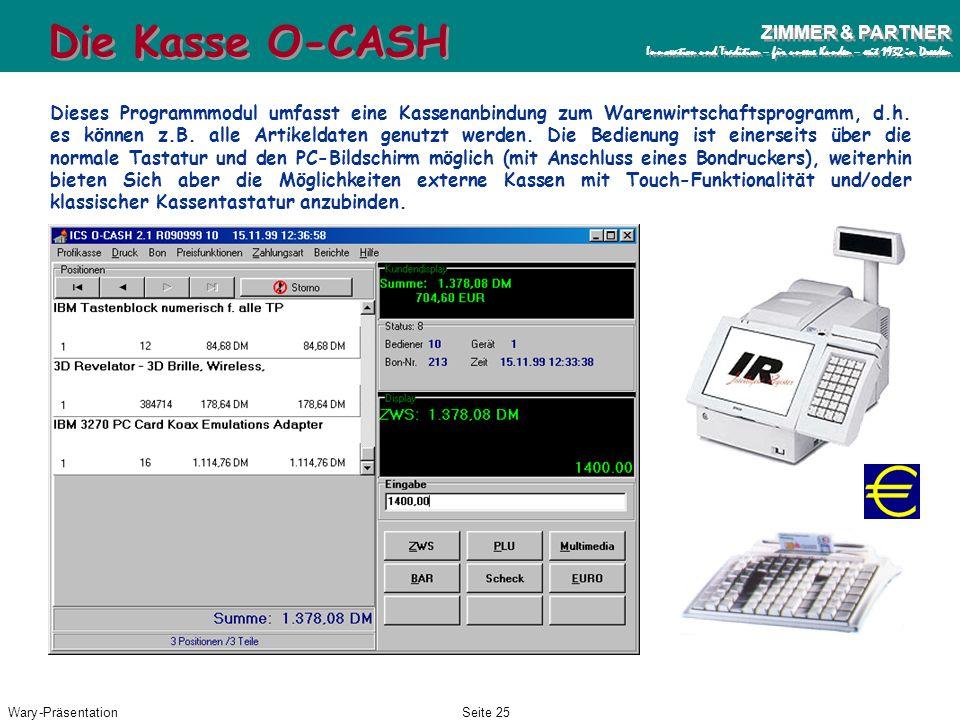 Die Kasse O-CASH