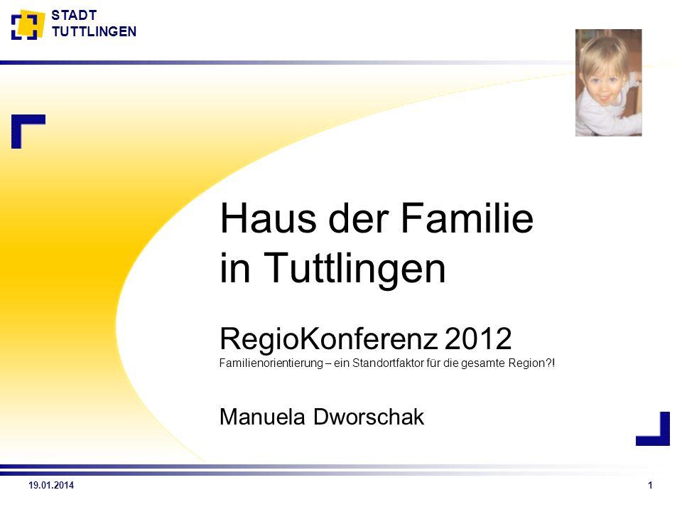 Haus der Familie in Tuttlingen RegioKonferenz 2012 Familienorientierung – ein Standortfaktor für die gesamte Region !