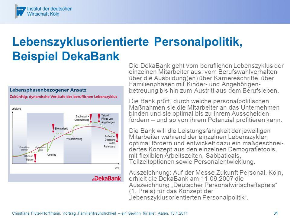 Lebenszyklusorientierte Personalpolitik, Beispiel DekaBank