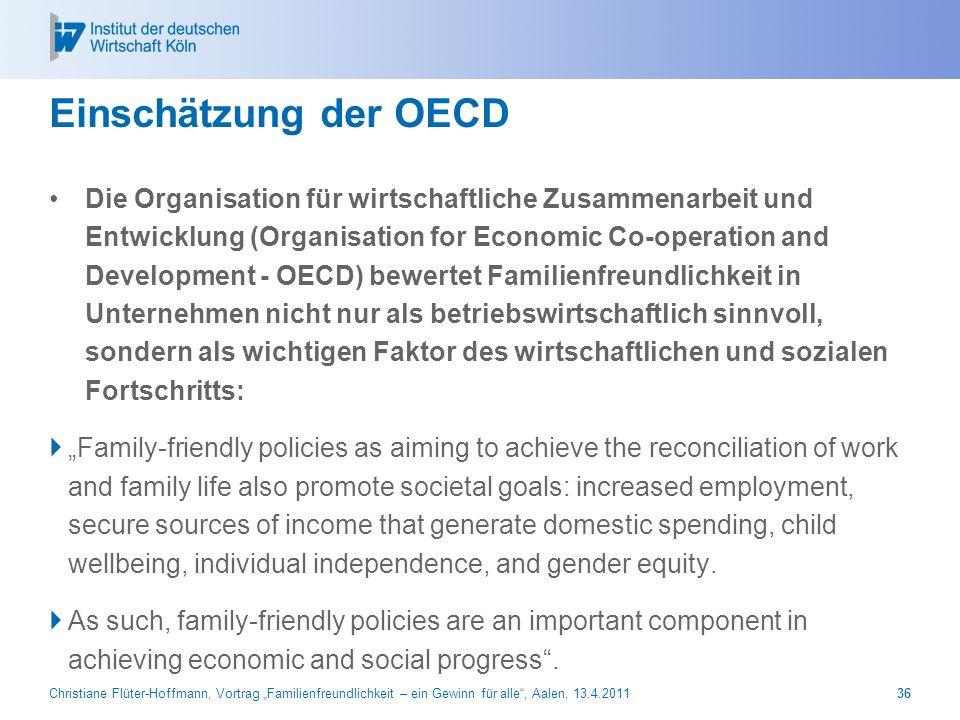Einschätzung der OECD