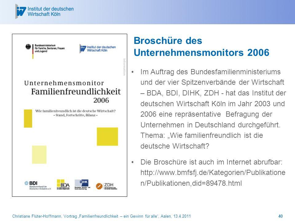Broschüre des Unternehmensmonitors 2006