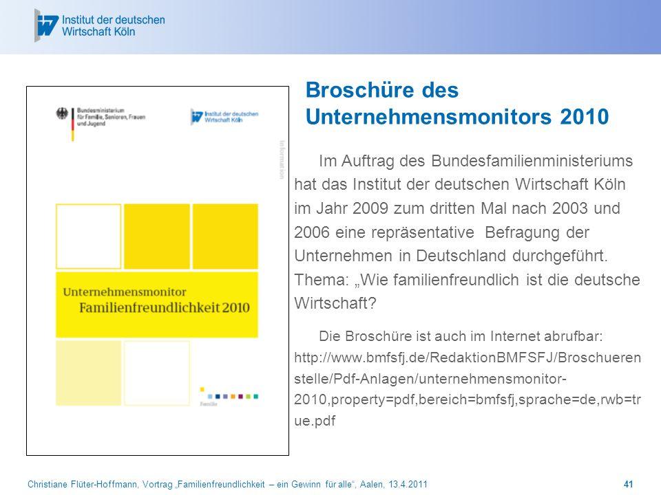Broschüre des Unternehmensmonitors 2010