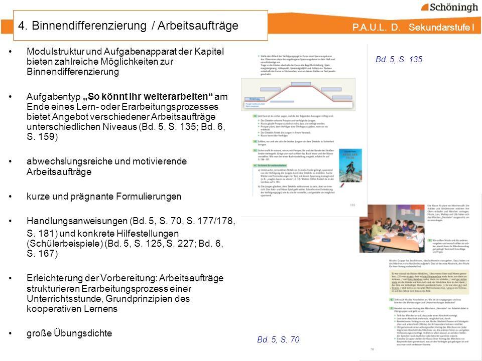 4. Binnendifferenzierung / Arbeitsaufträge
