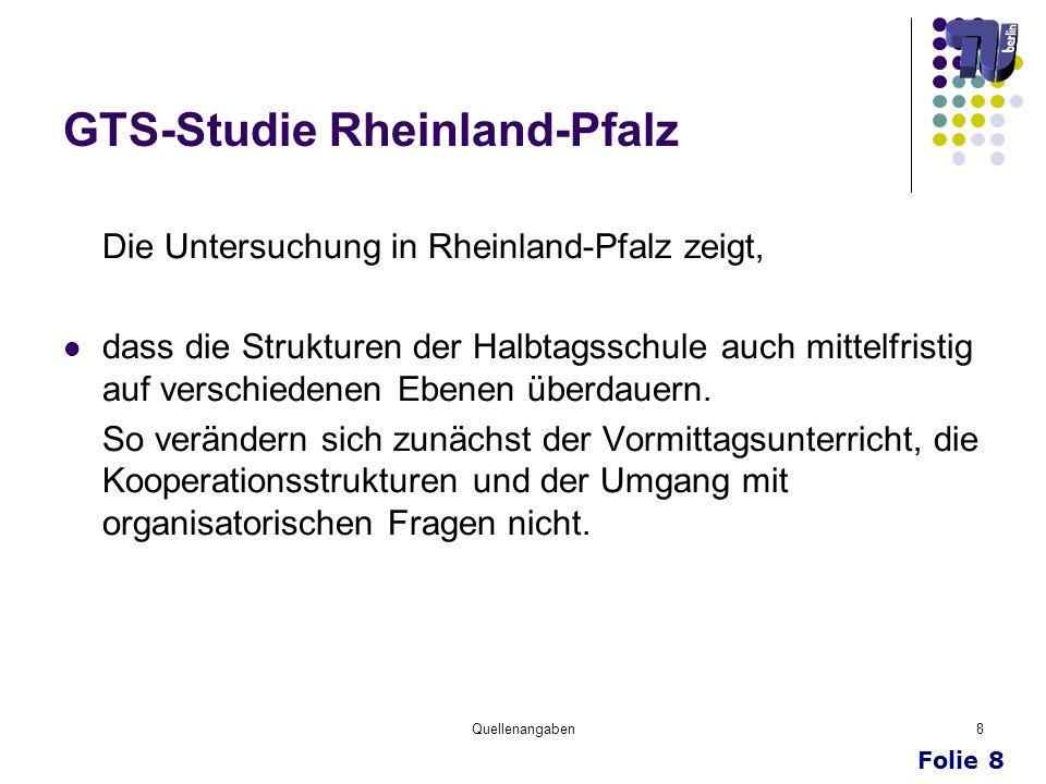 GTS-Studie Rheinland-Pfalz