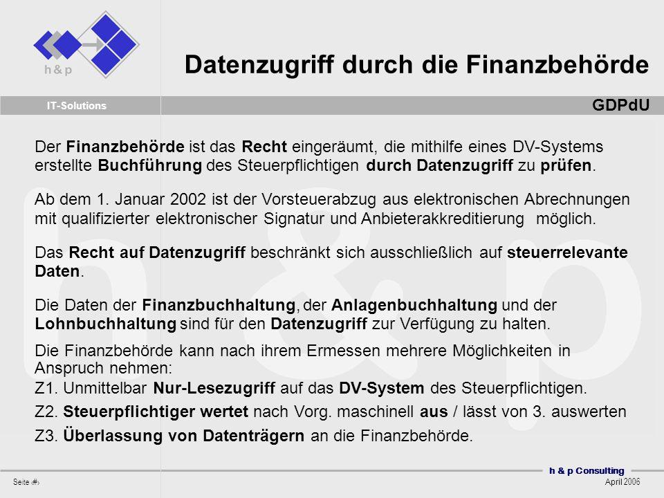 Datenzugriff durch die Finanzbehörde