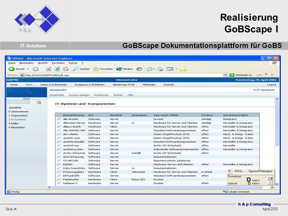 Realisierung GoBScape I