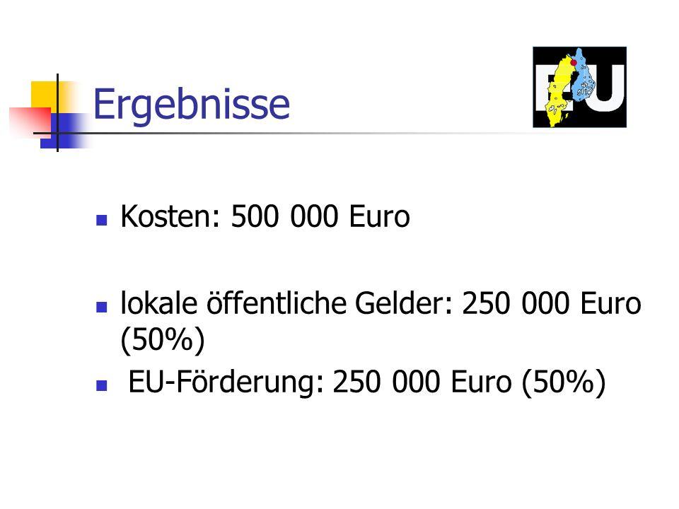 Ergebnisse Kosten: 500 000 Euro