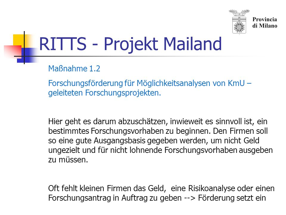 RITTS - Projekt Mailand