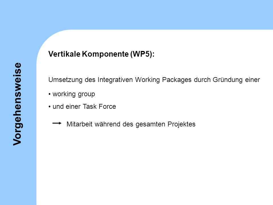 Vorgehensweise Vertikale Komponente (WP5):