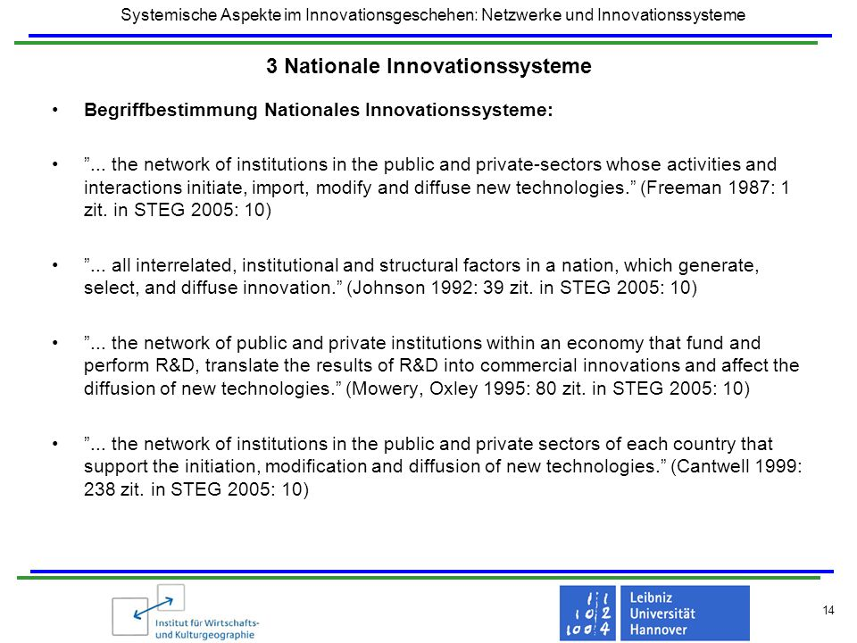 3 Nationale Innovationssysteme