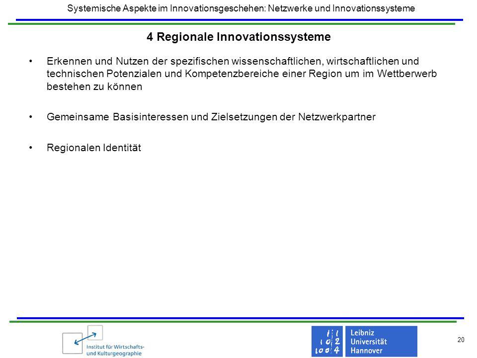 4 Regionale Innovationssysteme