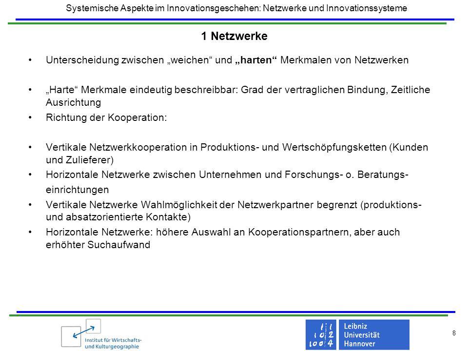 """1 Netzwerke Unterscheidung zwischen """"weichen und """"harten Merkmalen von Netzwerken."""